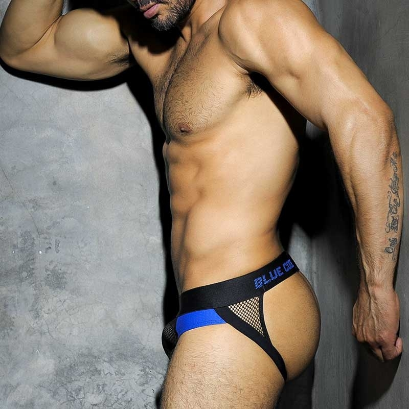 ADDICTED JOCK hot CODE NETZ Top Sport ADF15 Fetisch Wear blue-black