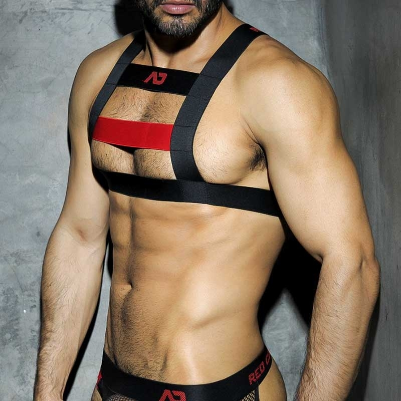 ADDICTED HARNESS ADF21 Brust Farbcode red