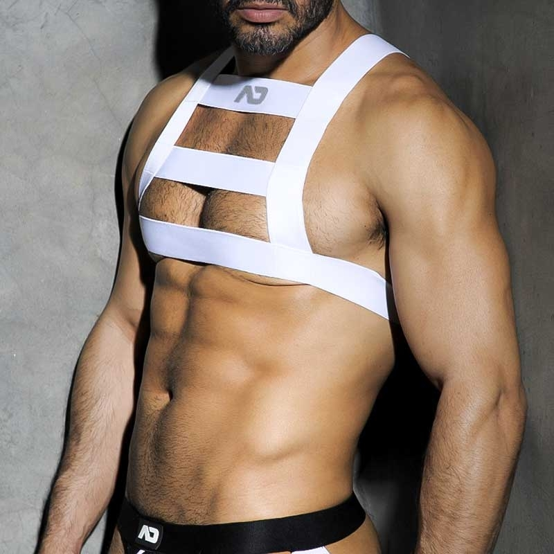 ADDICTED HARNESS hot WHITE PARTY Fetisch ADF26 Club Wear white