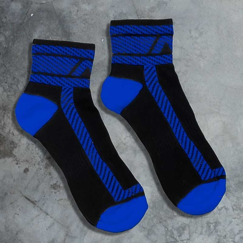 ADDICTED SNEAKER SOCKEN athletic BJ HANKY CODE Joggen ADF27 Fetisch Sports Wear black-blue