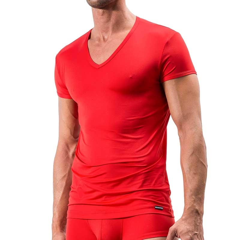 MANSTORE T-SHIRT regular DEEP-V Athletic M200 Mainstream red