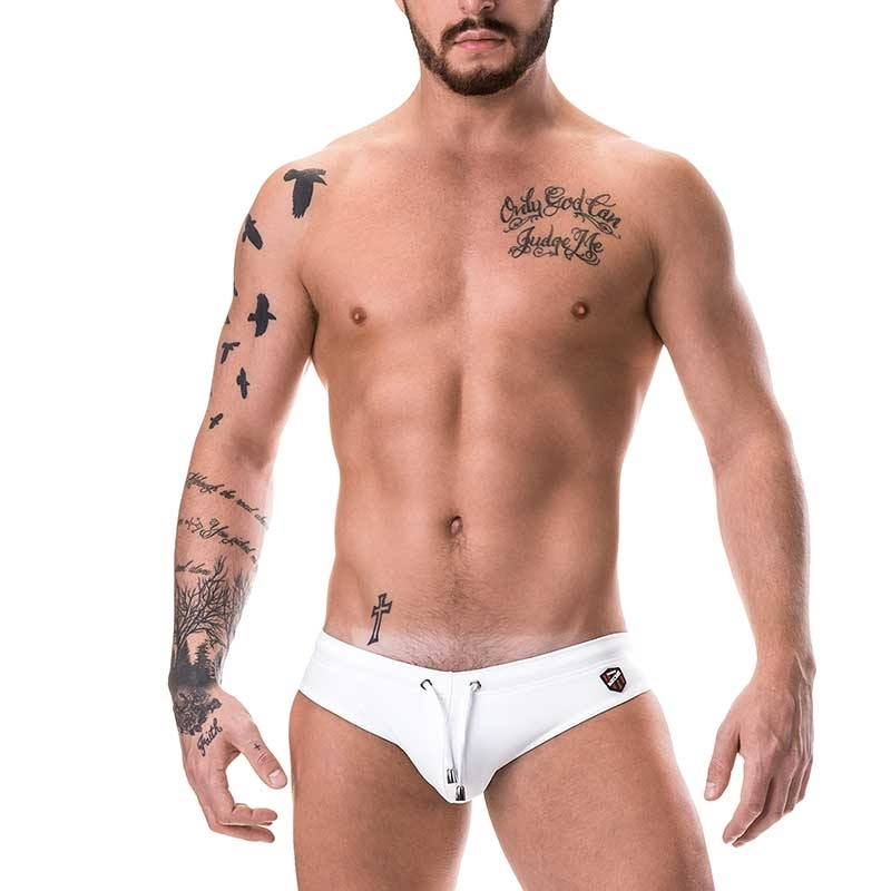 BARCODE Berlin SLIP hot NEO BENNETT Wet Look 91153 Neopren like white