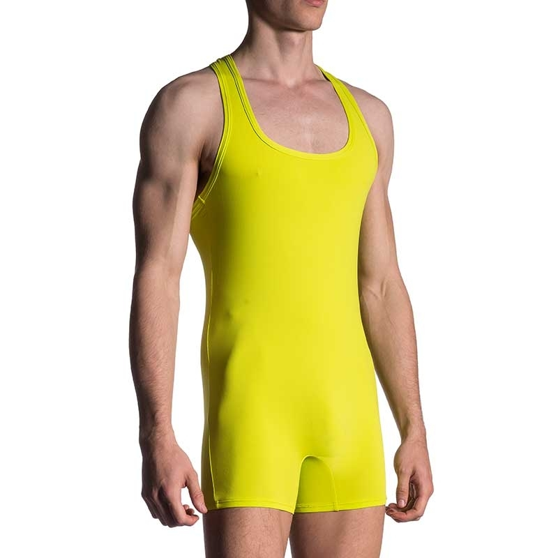 MANSTORE BODY athletic SPORT SINGLET Kampf M200 Aktiv Wear yellow-green