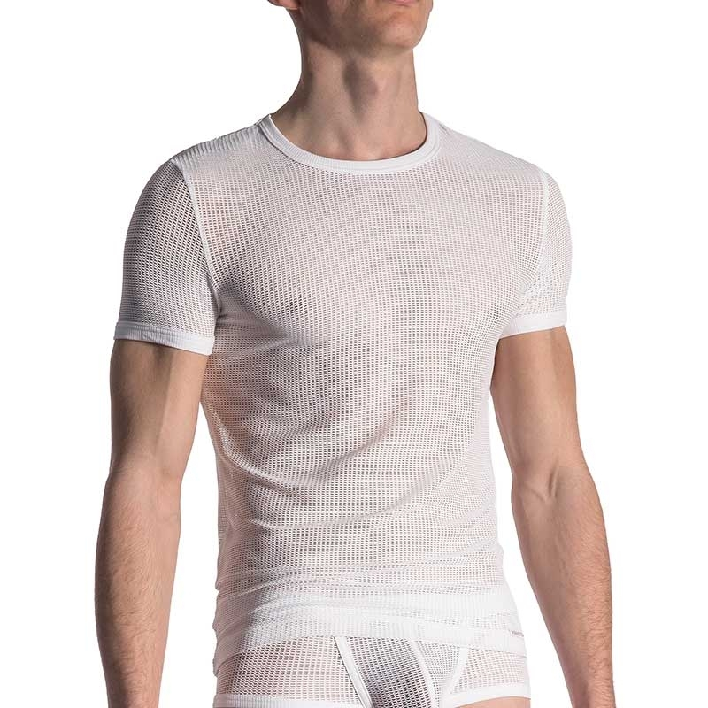 MANSTORE T-SHIRT comfort SPORT NETZ Turnhalle M613 Athletic Wear white