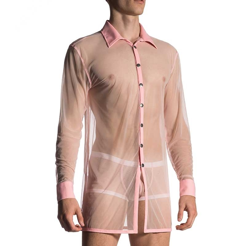 MANSTORE SHIRT comfort BRIT NETZ XXL Nacht M660 Club Wear light pink