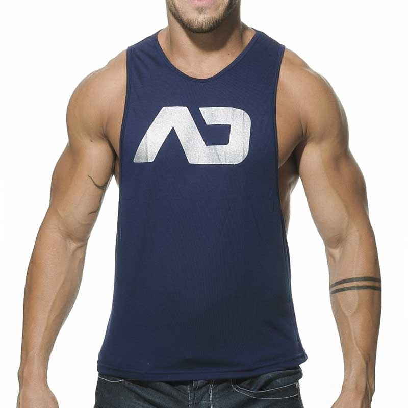 ADDICTED TANK TOP athletic TRAINER Sport AD-043 Sportswear navy