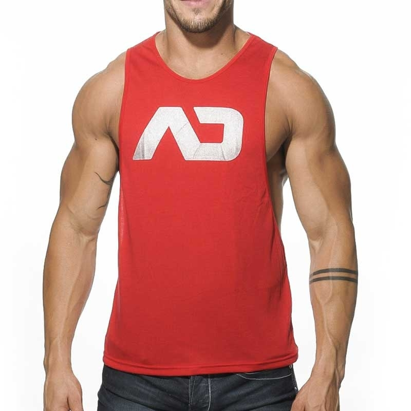 ADDICTED TANK TOP athletic TRAINER Sport AD-043 Sportswear red