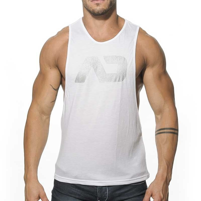 ADDICTED TANK TOP athletic TRAINER Sport AD-043 Sportswear white