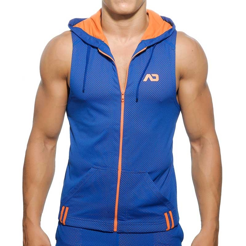 ADDICTED HOODIE TANK mesh AD355 luftig in blue