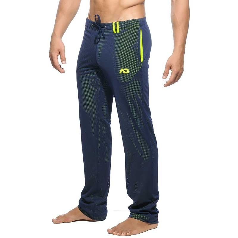 ADDICTED SPORT PANT mesh AD356 neon double layer in dark blue