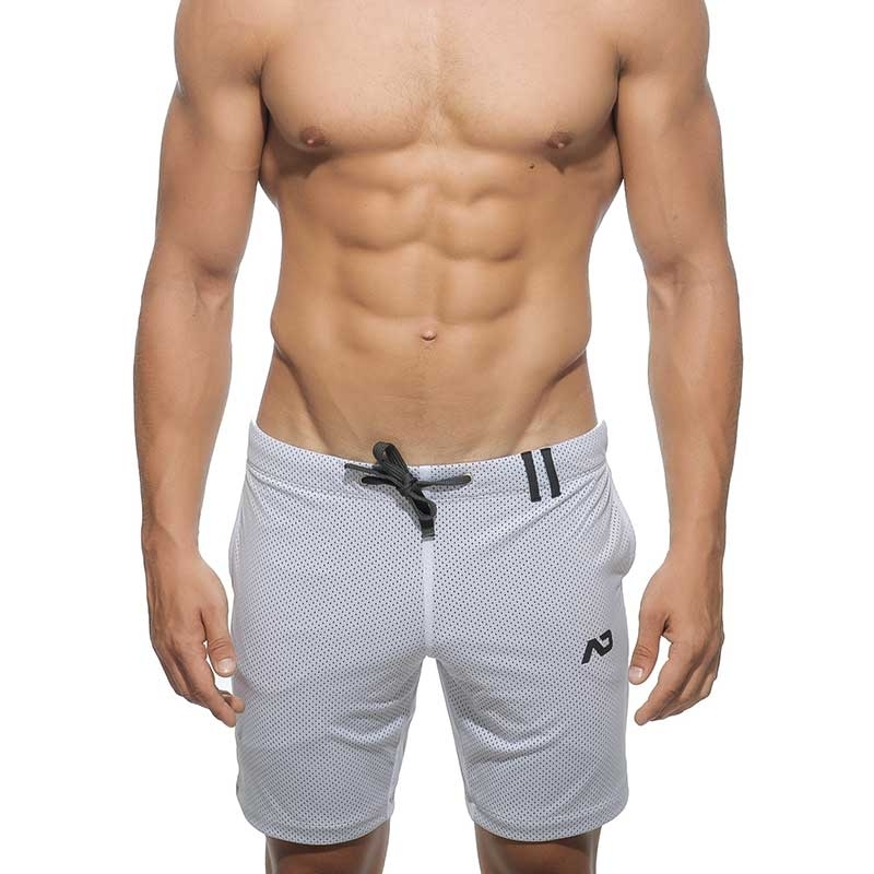 ADDICTED SHORTS mesh AD357 double layer in white