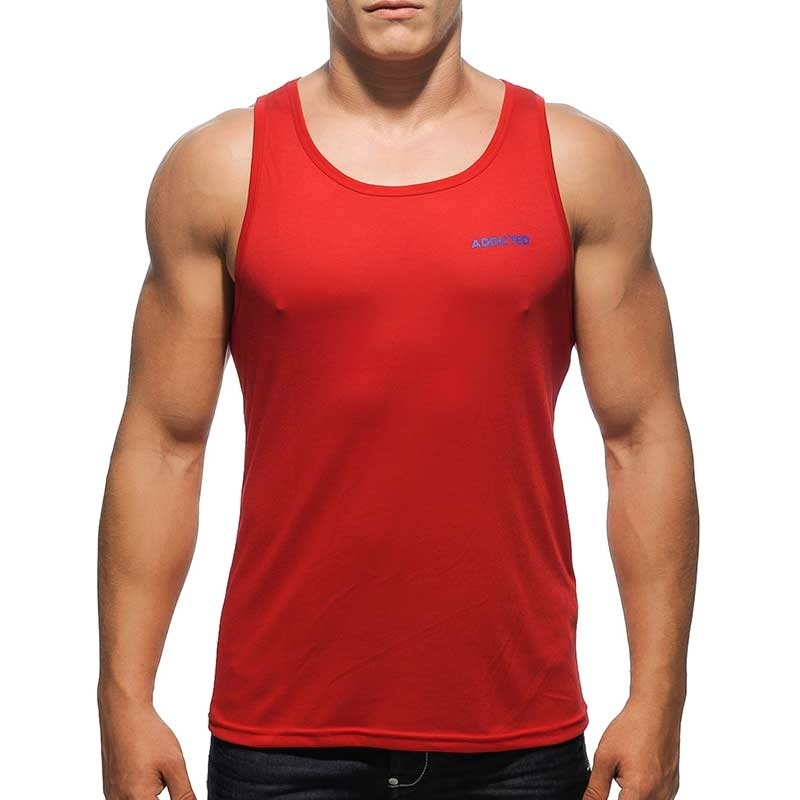 ADDICTED TANK TOP basic AD384 muscle cut in red