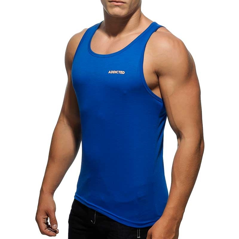 ADDICTED TANK TOP athletic JUPITER MUSKEL Basic Sport AD-384 Bodywear royal