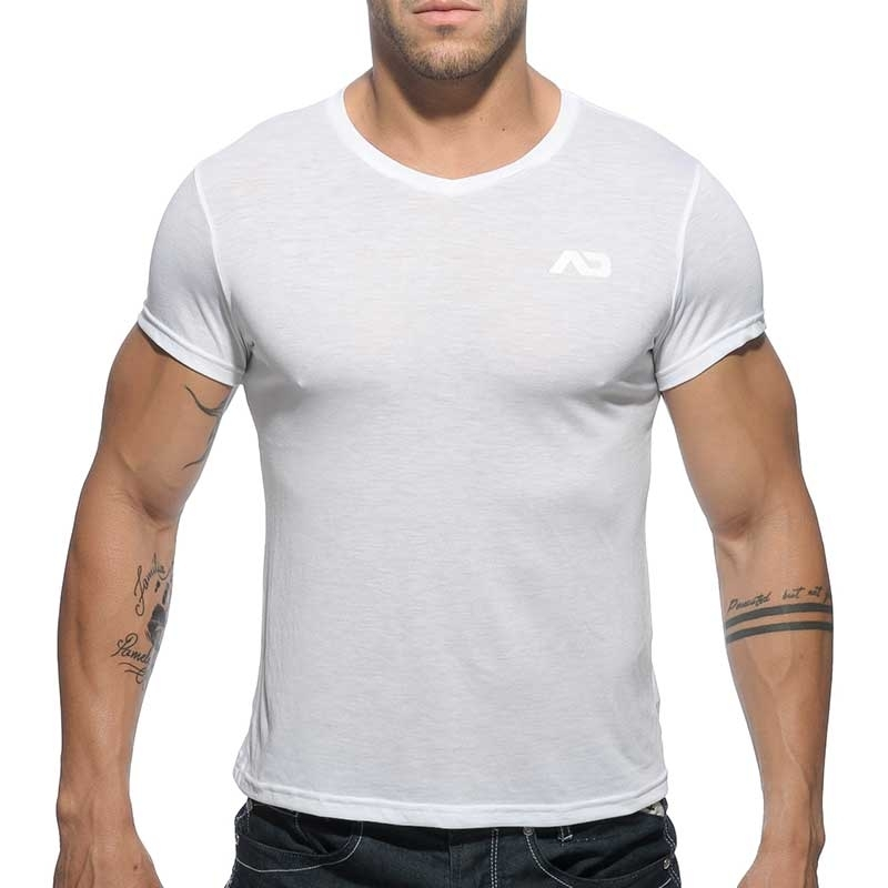 ADDICTED SHIRT regular BASIC SAMUEL Muskel AD-423 Mainstream white