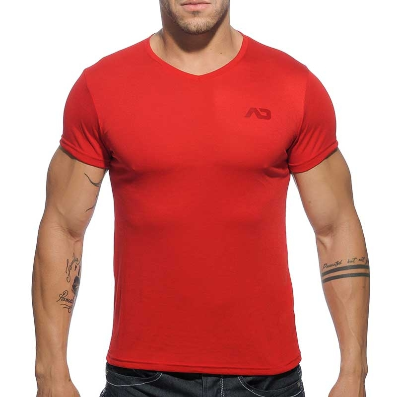 ADDICTED SHIRT regular BASIC SAMUEL Muskel AD-423 Mainstream red