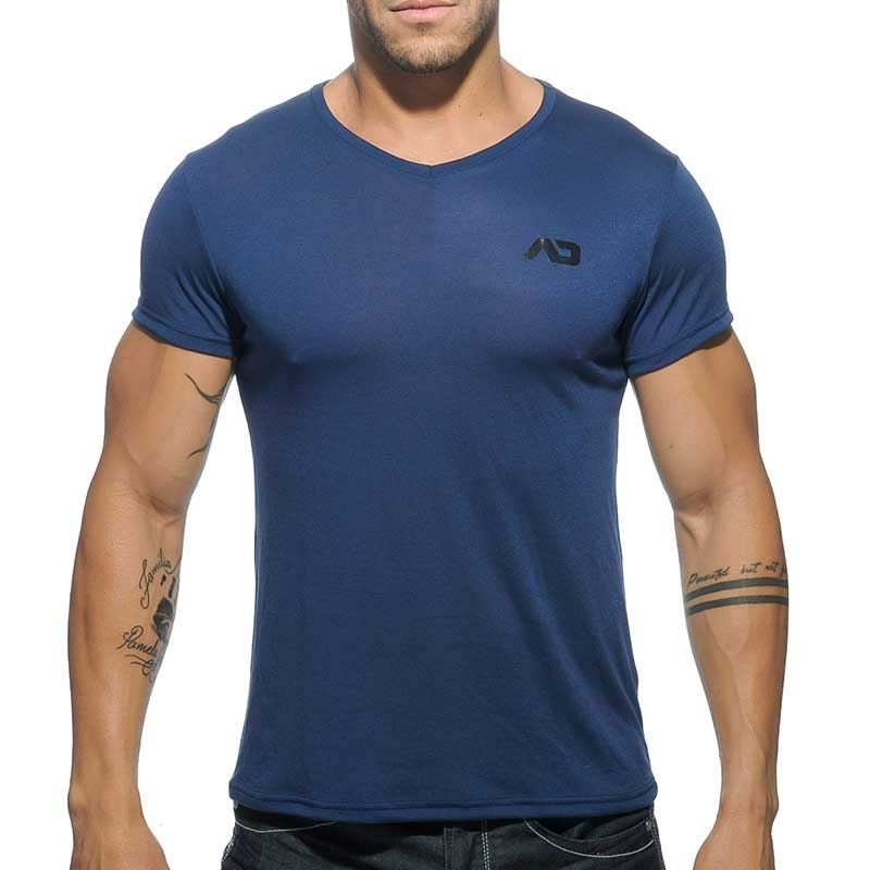 ADDICTED SHIRT regular BASIC SAMUEL Muskel AD-423 Mainstream navy
