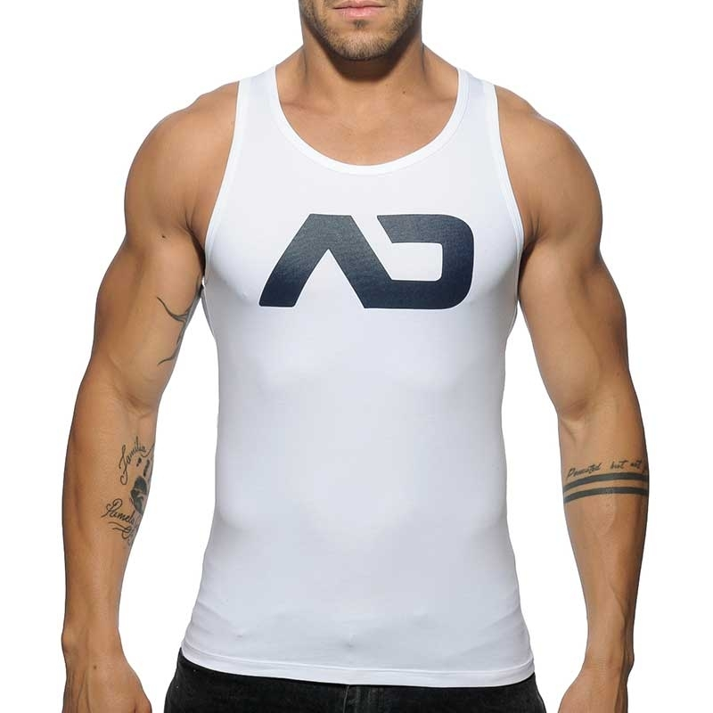 ADDICTED TANK TOP athletic CLASSIC JAKUB Turnhalle AD-457 Aktiv Wear white