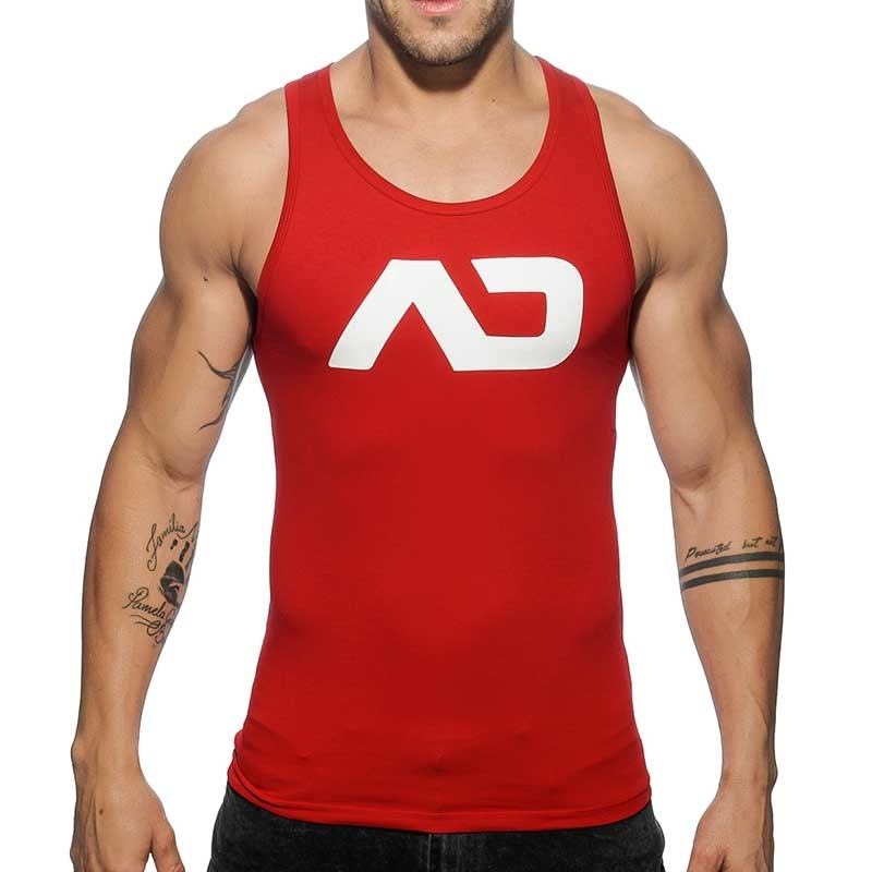 ADDICTED TANK TOP athletic CLASSIC JAKUB Turnhalle AD-457 Aktiv Wear red