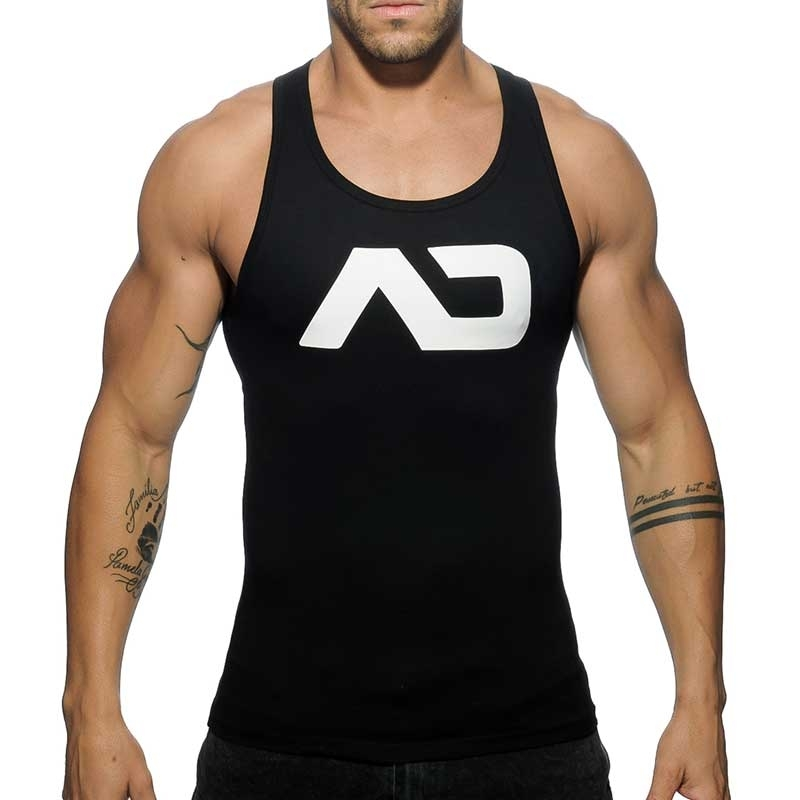 ADDICTED TANKTOP basic AD457 Muskel torso in black