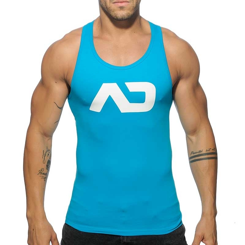 ADDICTED TANKTOP basic AD457 Muskel torso in turquoise