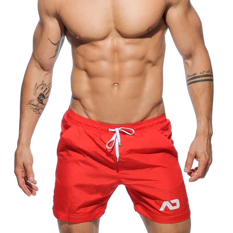 ADDICTED BADESHORTS modern BERMUDA TOMMY Sommer ADS-073 Strand Wear red