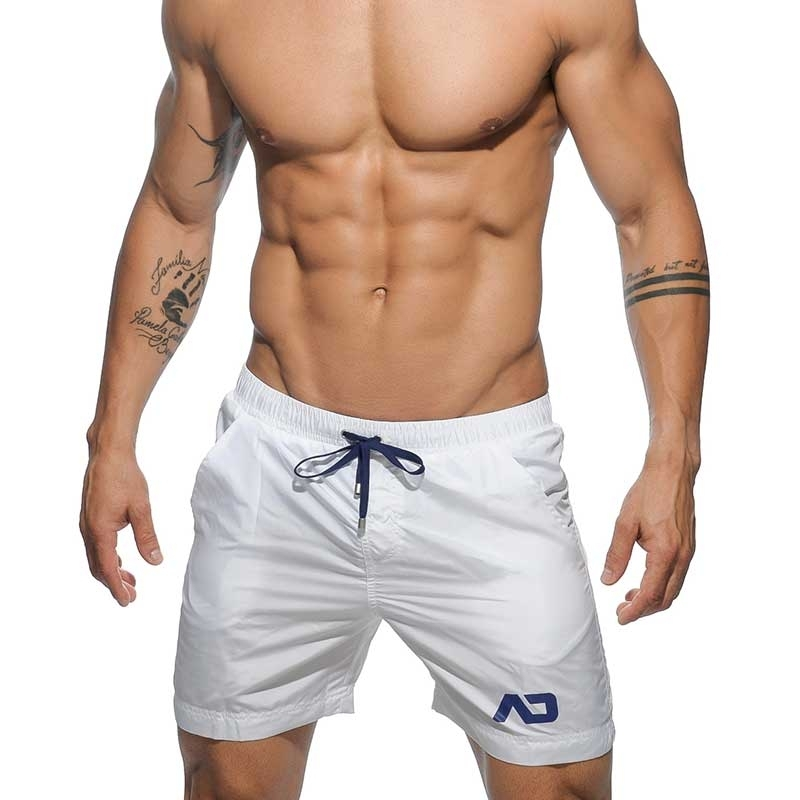 ADDICTED BADESHORTS modern BERMUDA TOMMY Sommer ADS-073 Strand Wear white
