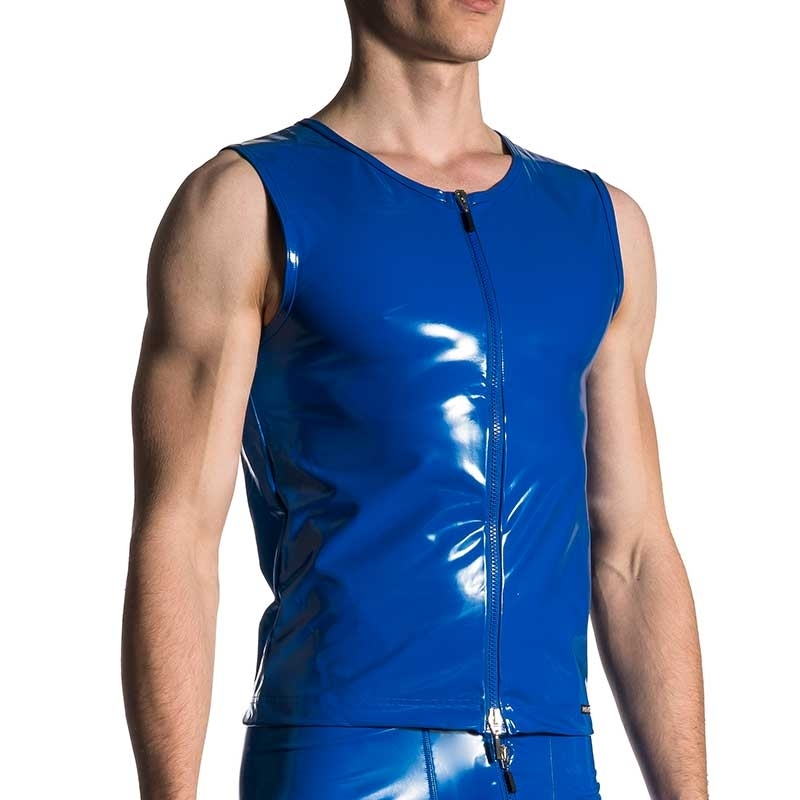 MANSTORE WESTEN hot WET ZIPP DRAKE Latex Club M420 Fetisch Wear blue