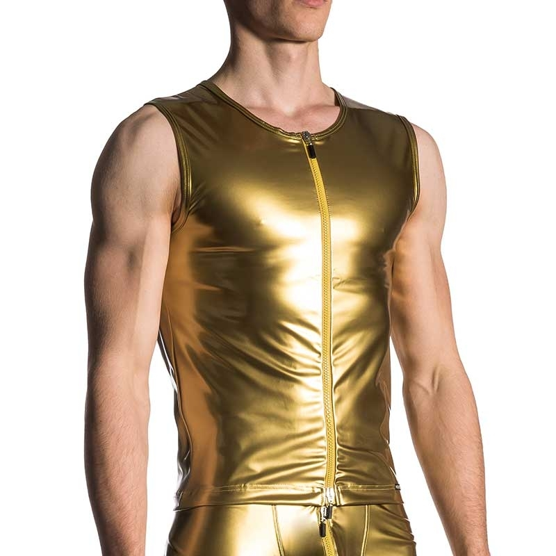 MANSTORE VEST M420 with retro gold coating