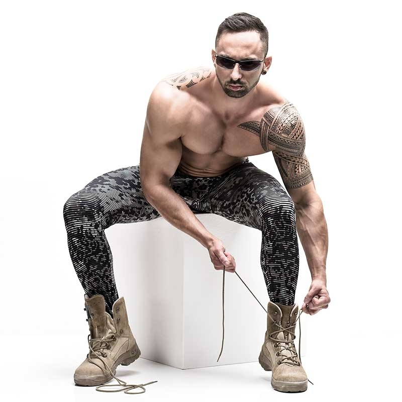 MANSTORE LEGGINGS hot CAMO SWAP JOE Army Print M657 Club Wear Camouflage-olive