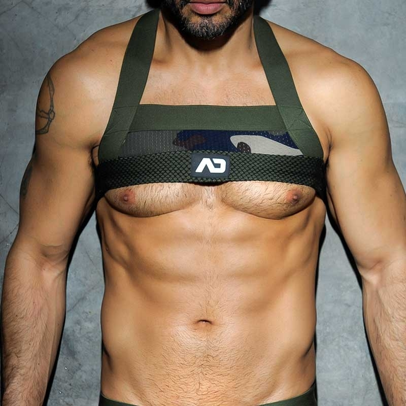 ADDICTED HARNESS hot CAMO SEBASTIAN Army Netz ADF34 Party Wear camouflage-olive