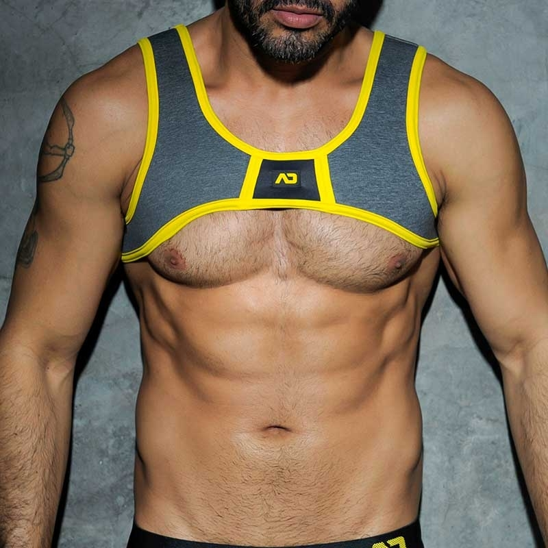 ADDICTED HARNESS hot SPACER CODE Aktiv Sport ADF20 Fetisch Wear yellow-anthracite
