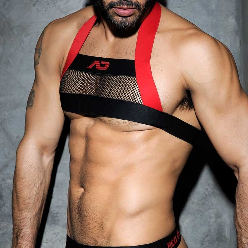 ADDICTED HARNESS hot CODE DAMIAN S&M Party Netz ADF24 Fetisch Wear red-black
