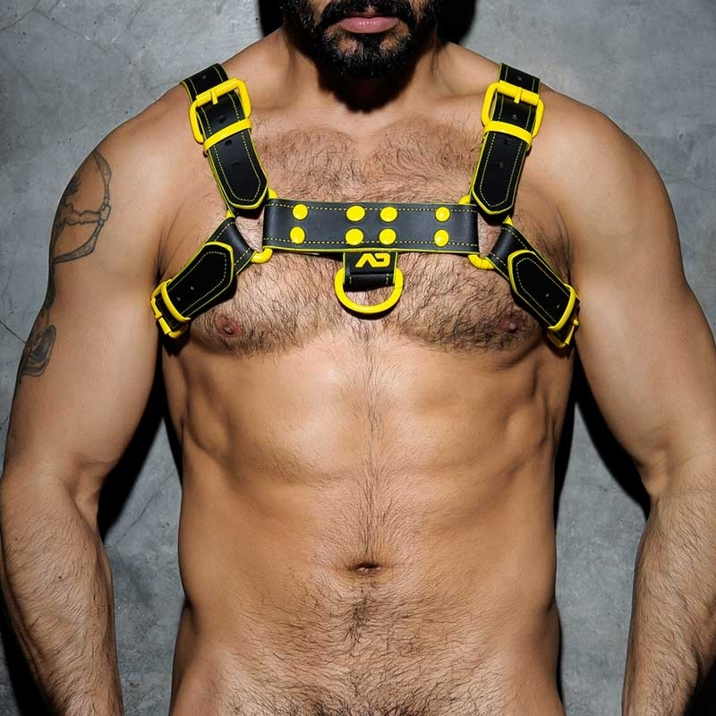 ADDICTED HARNESS ADF32 Farbkontrast Leder