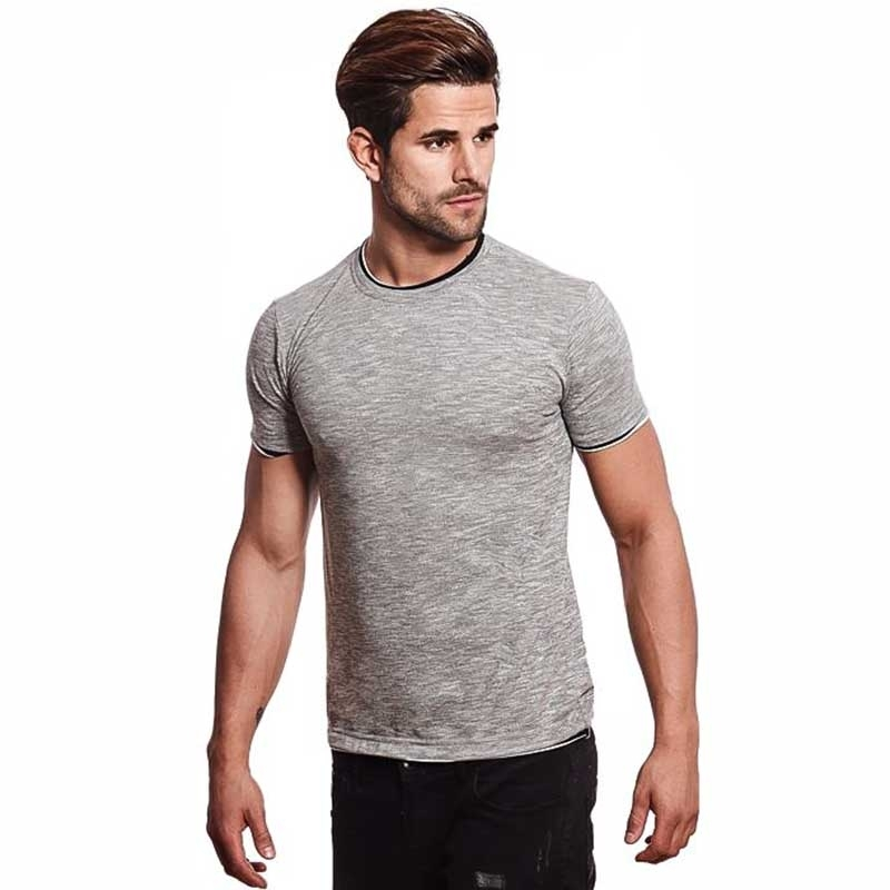 CARISMA T-SHIRT regular ALLTAG TIMMY Meliert CRSM 4381 Mainstream grey