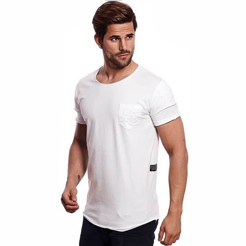 CARISMA T-SHIRT regular BASIC LOCH BEN Tasche CRSM 4391 Mainstream white