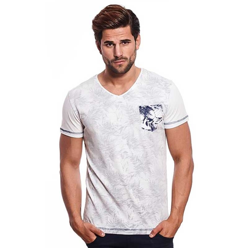 CARISMA T-SHIRT regular PALME TIMMY Druck CRSM 4417 Street wear white