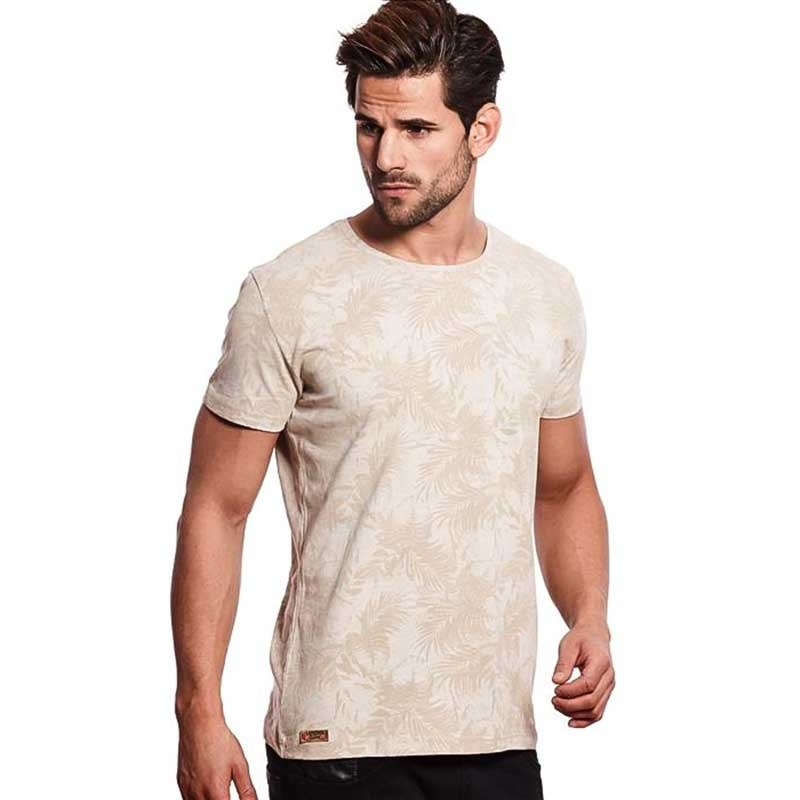 CARISMA T-SHIRT regular KRAEFTIG TIMMY Palme Druck CRSM 4414 Mainstream beige