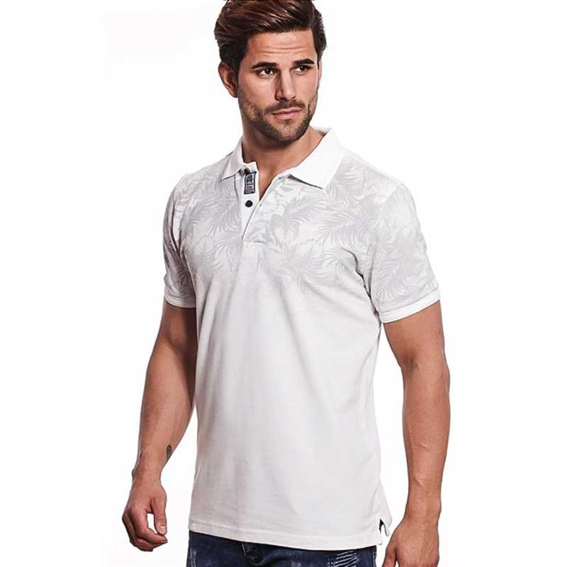 CARISMA POLO SHIRT regular TIMMY BERMUDA LOOK Bedruckt CRSM 4411 Street Wear white
