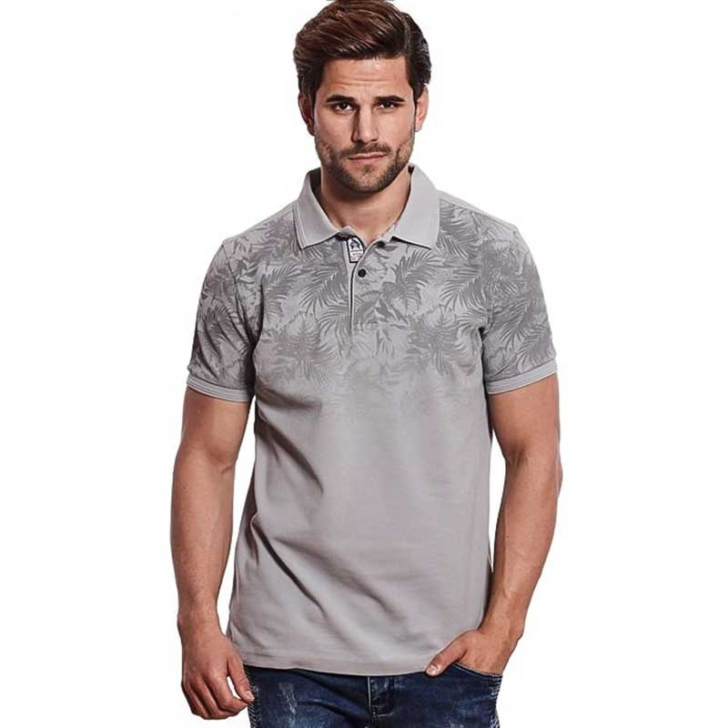 CARISMA POLO SHIRT regular TIMMY BERMUDA LOOK Bedruckt CRSM 4411 Street Wear grey