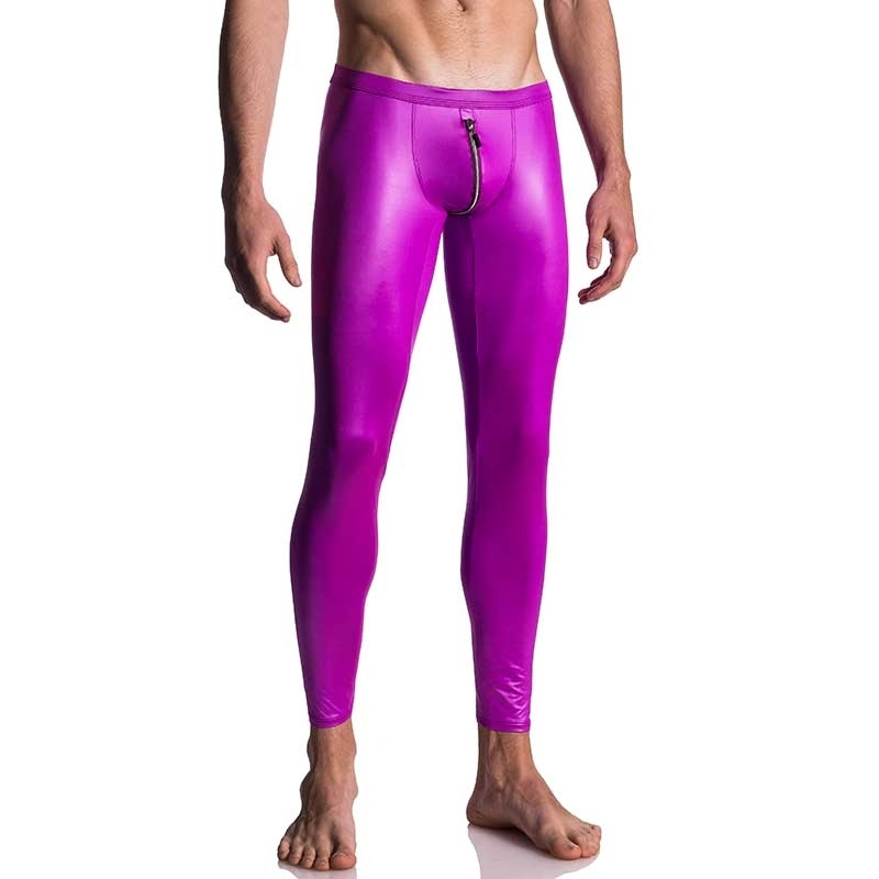 MANSTORE LEGGINGS hot RETRO ZIPP ERIK Flamingo Tanz M661 Club Wear pink
