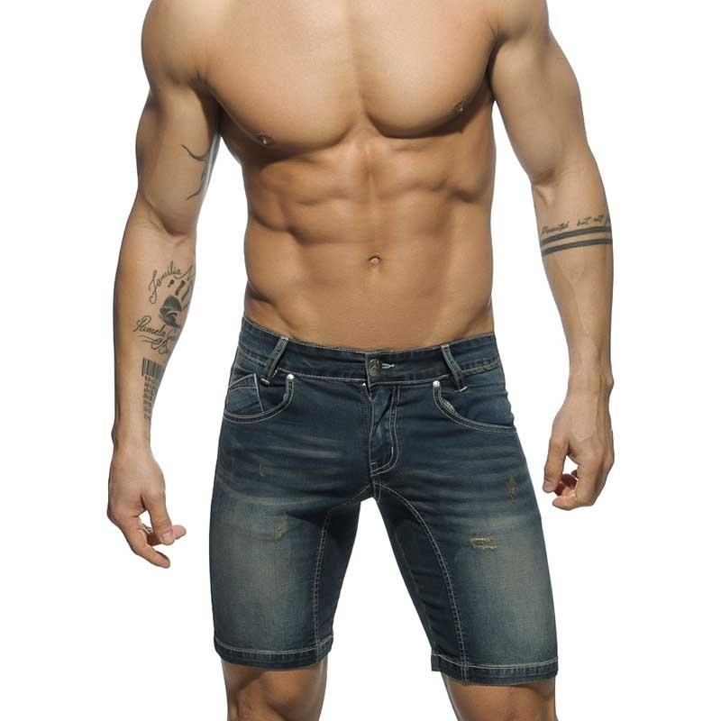 ADDICTED SHORTS hot BLUE JEANS FLORIAN Sommer AD529 Street Wear dark-denim