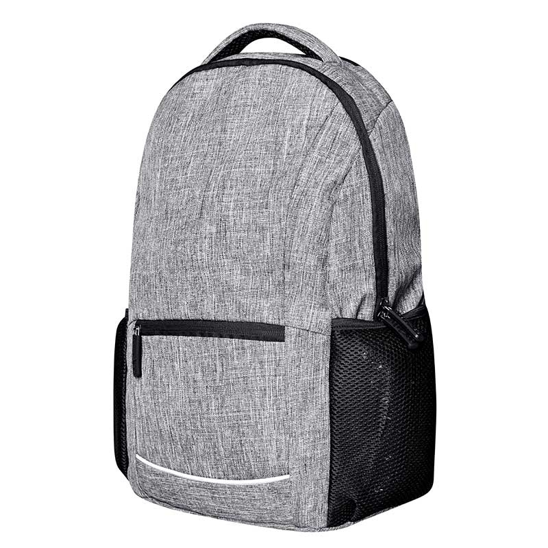 BAGS-2-GO BACKPACK regular WALL STREET Daypack BS-15380 Streetwear grey-melange