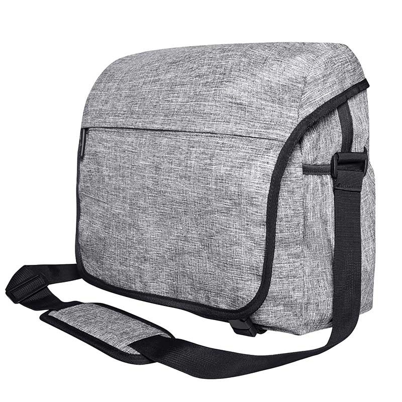 BAGS-2-GO TASCHE regular LOS ANGELES Messenger BS-16035 Alltag grey-melange