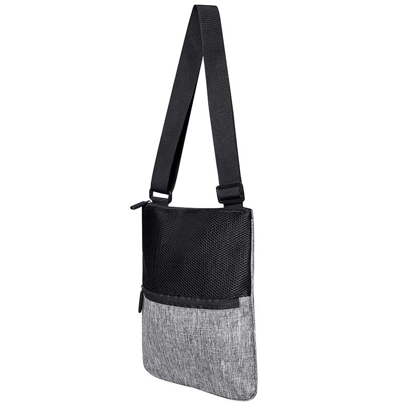 BAGS-2-GO TASCHE regular WASHINGTON Messenger Mesh B2G-15392 All Day grey-melange
