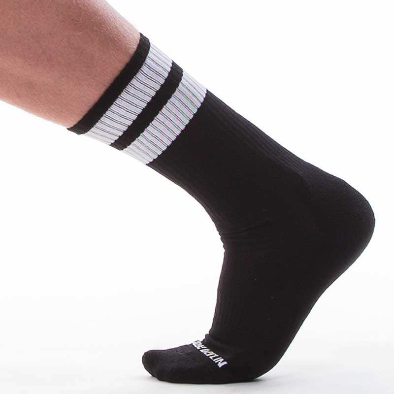 BARCODE Berlin SNEAKER SOCKEN comfort GYM SOCKS Joggen 91366 Street Wear black-white