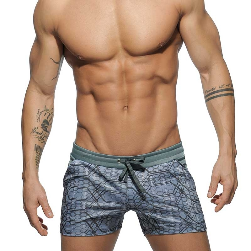 ADDICTED SHORTS hot NEO MATRIX gemustert AD509 Club Wear grey