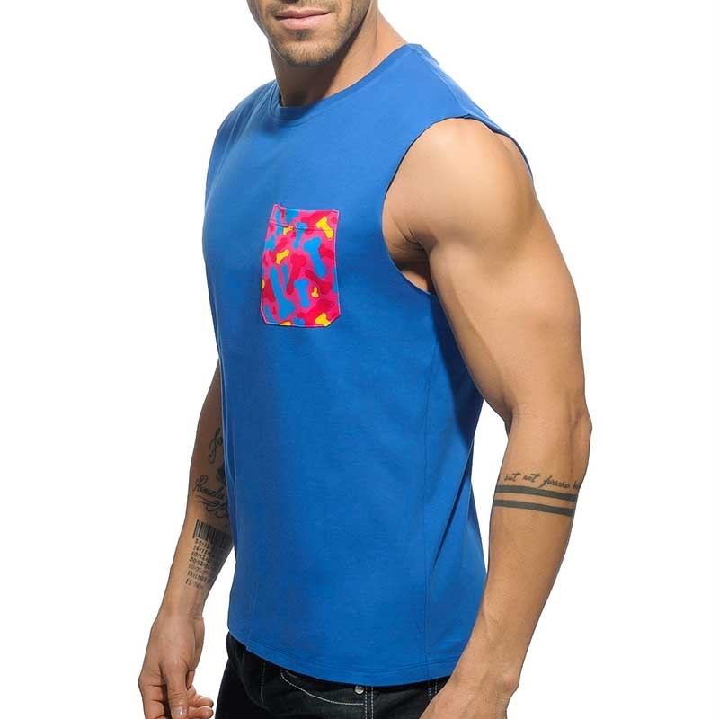 ADDICTED TANK TOP regular PENIS TANK DAVE Tasche AD-525 Club Wear royal