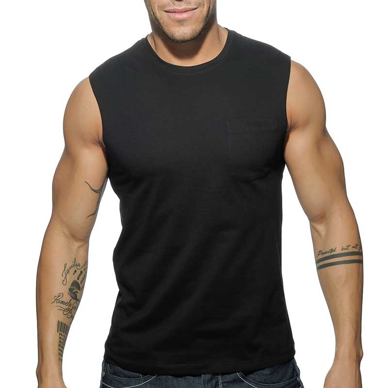 ADDICTED TANK TOP comfort BASIC WORKOUT MIKE Gym AD-531 Streetwear black