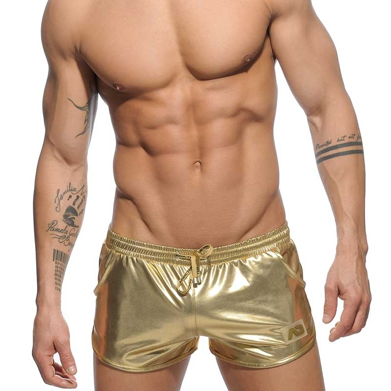 ADDICTED wet SHORTS AD562 gold metallic space man