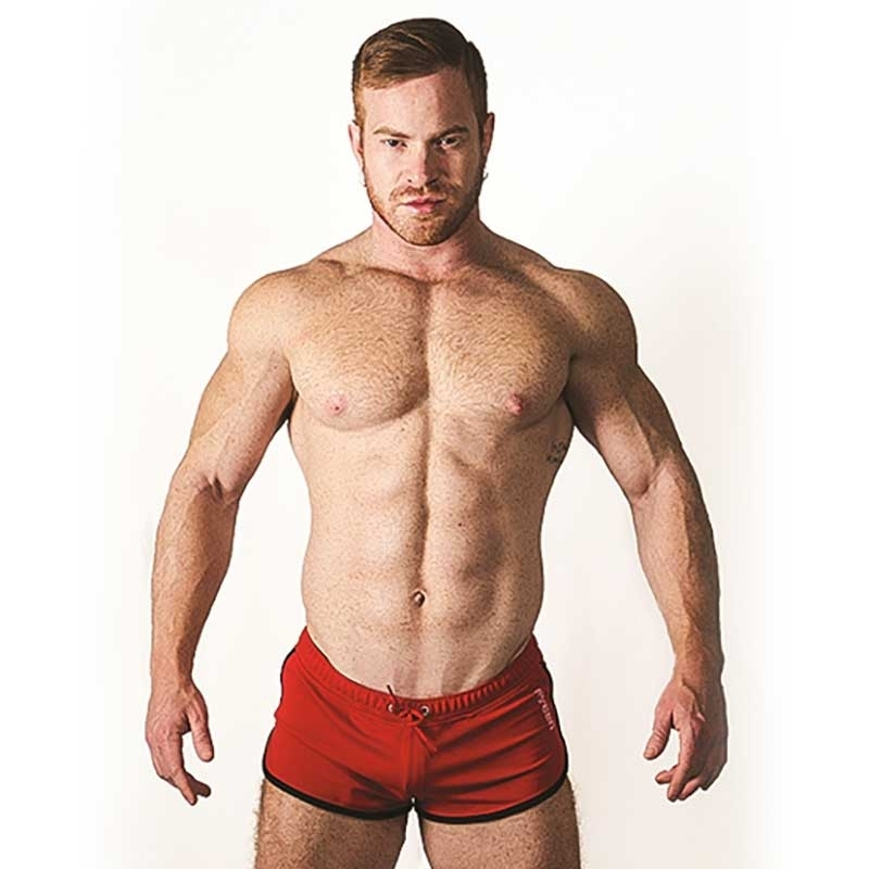 MISTER B SHORTS hot URBAN IBIZA Jogging MB-820670 Sportswear red-black